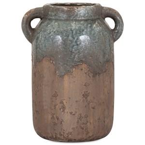 IMAX Worldwide Home Vases Bardot Large Blue Stone Ceramic Vase