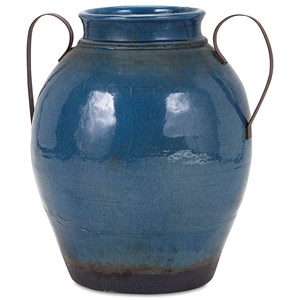IMAX Worldwide Home Vases Harrisburg Large Vase with Metal Handles