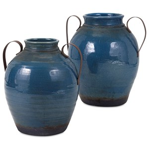 IMAX Worldwide Home Vases Harrisburg Small Vase with Metal Handles