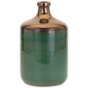 IMAX Worldwide Home Vases Melenia Medium Green and Bronze Vase