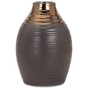 IMAX Worldwide Home Vases Calin Small Bronze Top Vase
