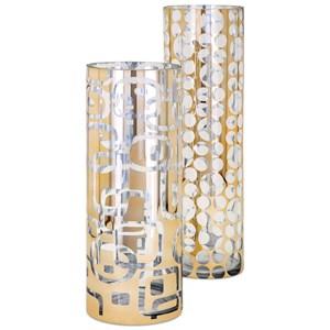 IMAX Worldwide Home Vases Damari Graphic Vase