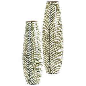 IMAX Worldwide Home Vases Palm Handpainted Large Vase