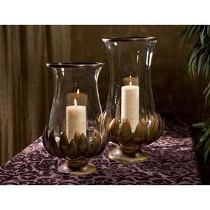 IMAX Worldwide Home Vases Lotus Burned Copper Hurricane