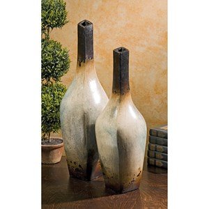 IMAX Worldwide Home Vases Valdez Terracotta Vases - Set of 2