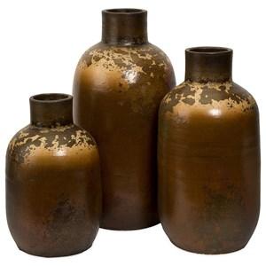 IMAX Worldwide Home Vases Ortega Terracotta Vases - Set of 3