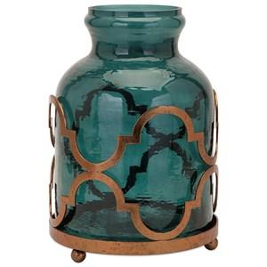 IMAX Worldwide Home Vases Marla Oversized Quadre Foil Vase