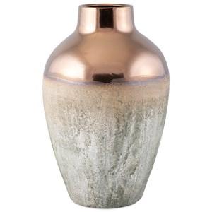 IMAX Worldwide Home Vases Hargrove Large Metallic Top Vase