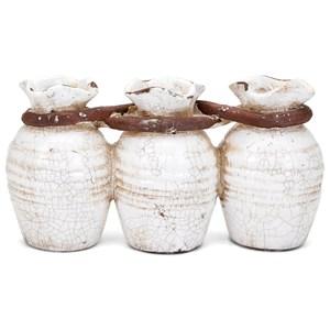 IMAX Worldwide Home Vases Adele Triple Vase