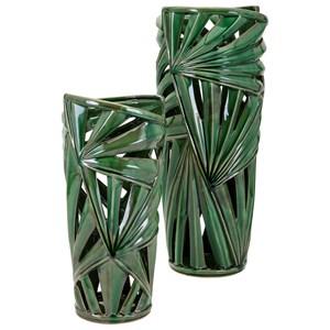 IMAX Worldwide Home Vases Palmetto Large Vase