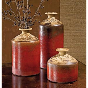 IMAX Worldwide Home Vases Colonia Bottle Vases - Set of 3