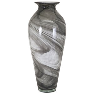 IMAX Worldwide Home Vases Marbleized Oversized Glass Vase