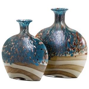 IMAX Worldwide Home Vases Nordiak Glass Vases - Set of 2