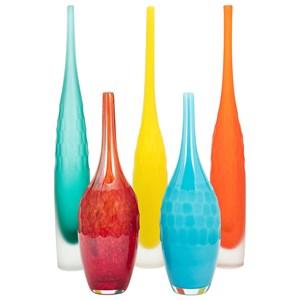 IMAX Worldwide Home Vases Kepla Glass Vases - Set of 5