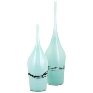 IMAX Worldwide Home Vases Seafoam Glass Vases - Set of 2