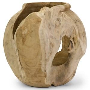 IMAX Worldwide Home Vases Macaque Teakwood Round Vase