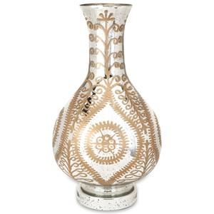 IMAX Worldwide Home Vases Carmina Oversized Etched Glass Vase