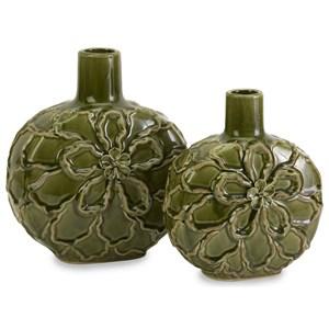 IMAX Worldwide Home Vases Poslie Dimensional Ceramic Flower Vases - Se
