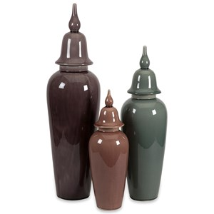 IMAX Worldwide Home Vases Anderson Urn - Set of 3