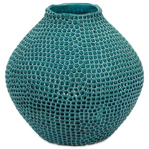 IMAX Worldwide Home Vases Isaac Short Crater Vase