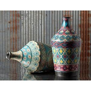 IMAX Worldwide Home Vases Kabir Large Hand-painted Vase