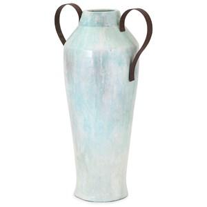 IMAX Worldwide Home Vases Torres Large Vase with Metal Handles