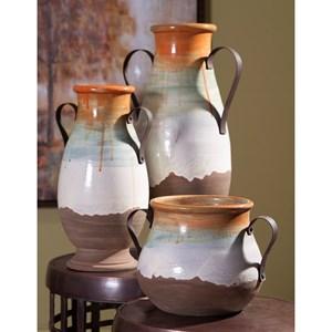 IMAX Worldwide Home Vases Morrison Medium Vase with Metal Handles