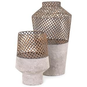 IMAX Worldwide Home Vases Rowan Large Metal Vase