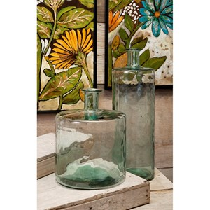 IMAX Worldwide Home Vases Vettriano Tall Oversized Recycled Glass Vase