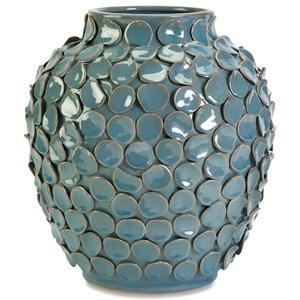 IMAX Worldwide Home Vases Agean Short Ceramic Vase
