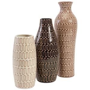 IMAX Worldwide Home Vases Tolek Vases - Set of 3