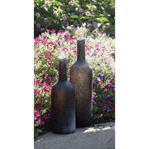 IMAX Worldwide Home Vases Gordon Large Black Frosted Vase