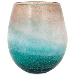 IMAX Worldwide Home Vases Luna Short Blue Frosted Vase