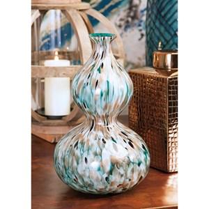 IMAX Worldwide Home Vases Glacier Glass Vase