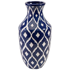 IMAX Worldwide Home Vases Maine Tall Blue and White Vase