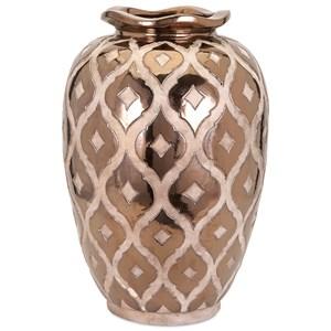 IMAX Worldwide Home Vases Carletta Large Embossed Vase