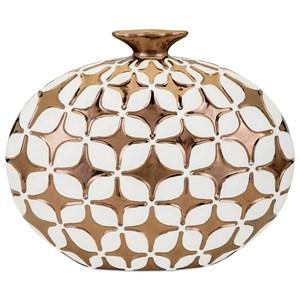 IMAX Worldwide Home Vases Samson Short Embossed Vase