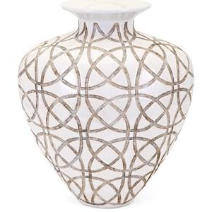 IMAX Worldwide Home Vases Kelsang Short Earthenware Vase