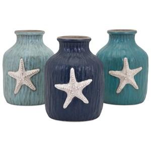 IMAX Worldwide Home Vases Oceana Starfish Vases- Ast 3