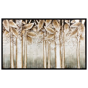 IMAX Worldwide Home Wall Art Alder Silver Wall Decor with Frame