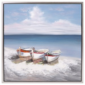 IMAX Worldwide Home Wall Art Seaside Oil on Canvas with Frame