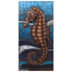 IMAX Worldwide Home Wall Art Seahorse Dimensional Wall Decor