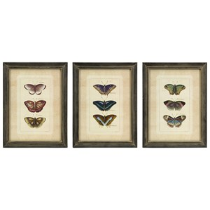 IMAX Worldwide Home Wall Art Butterfly Collection Wall Art - Set of 3