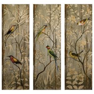 IMAX Worldwide Home Wall Art Calima Bird Wall Decor - Set of 3