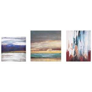 IMAX Worldwide Home Wall Art Miniature Abstract Gallery Art - Set of 3