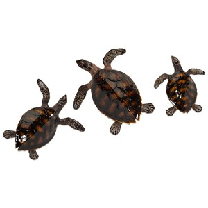 IMAX Worldwide Home Wall Art Swanson Sea Turtle Wall Decor - Set of 3