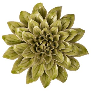 IMAX Worldwide Home Wall Art Isabella Small Ceramic Wall Decor Flower