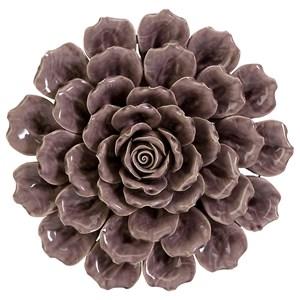 IMAX Worldwide Home Wall Art Magdalyn Purple Ceramic Wall Flower