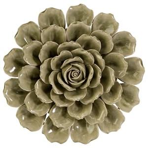 IMAX Worldwide Home Wall Art Magdalyn Green Ceramic Wall Flower