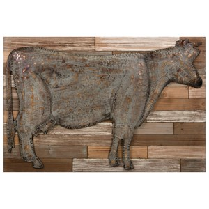 Bell Metal Cow Wall Decor